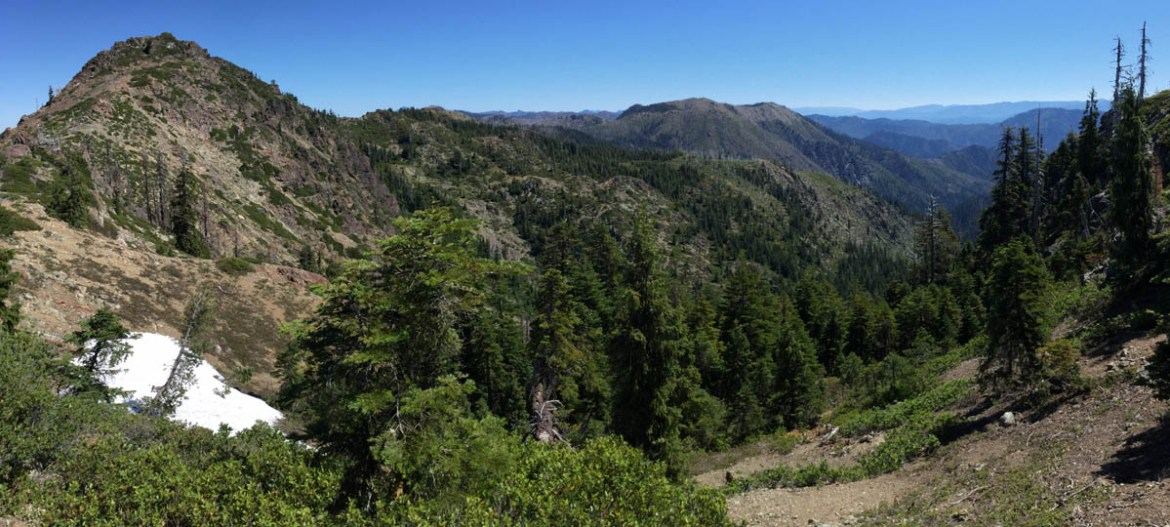 Elk Hole from the southern ridgeline.