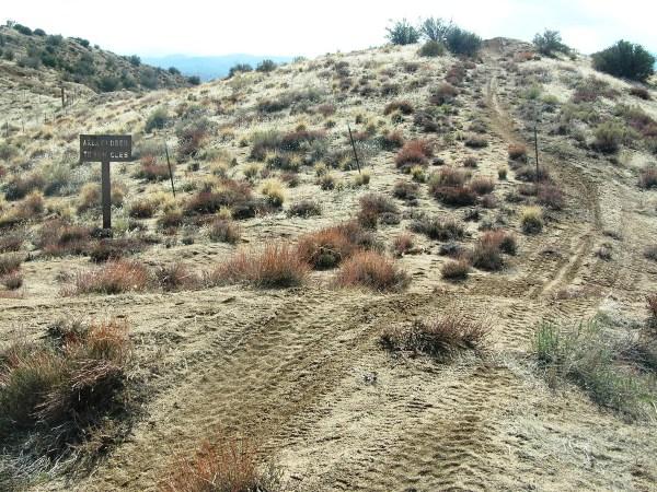 Illegal hill climb tracks