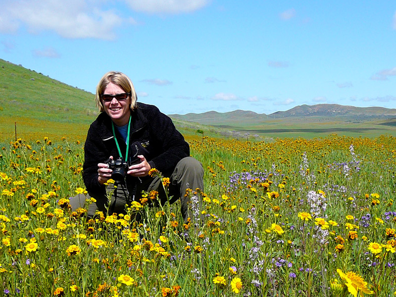 Student grant recipient Lee Ripma at Carrizo Plain. Credit Lee Ripma.