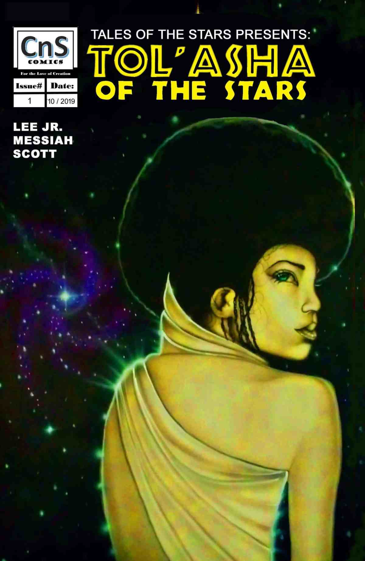 TOS Issue #1 Limited Cover. Art by Stephen Jones.  Availability limited. Issue #1 is available in both print and digital.