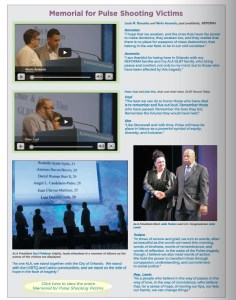The digital highlights issue included video clips from the memorial.