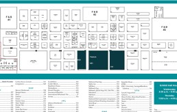 Printed floor plans are still quite popular with attendees.