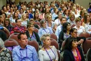 """Attendees listen to Sara Townsend talk about """"Don't YOU Clean That?"""""""