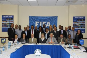 Participants at the FIFA 11 for Health workshop