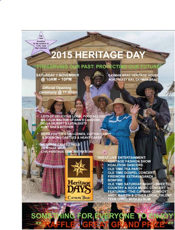 Brac Heritage Day flyer