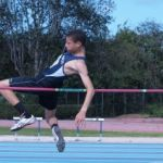 Secondary school athletes prepare for track and field meet