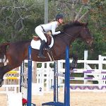 Serpell jumps to first by a second in equestrian event