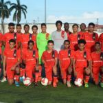 U-17 boys national team training for World Cup playoffs