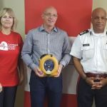 Cayman Heart Fund donates AEDs to police