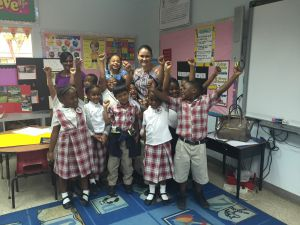 YCLA recipient Kellie Sandy visiting Red Bay Primary School