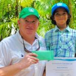 Youngster donates birthday money to Botanic Park