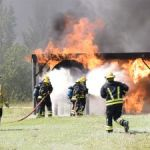 Firefighters train for aviation emergencies