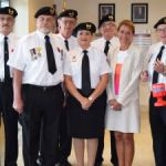 Veteran pins governor with first poppy