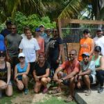 Leadership Cayman volunteers help out Maple House