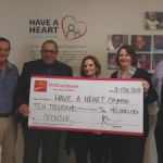 Bank deposits funds into Have a Heart
