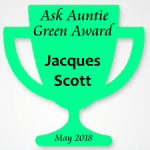 Awarding Jacques Scott for going green