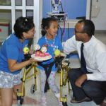 Young cancer survivor gives back to hospital