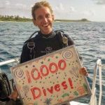 Dive instructor logs 10,000th dive