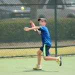 Tennis juniors battle it out on the court