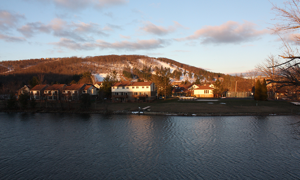 A view of Wisp ski resort near the northern tip of Deep Creek Lake in Garrett County. (Photo by J.F. Meils/Capital News Service)