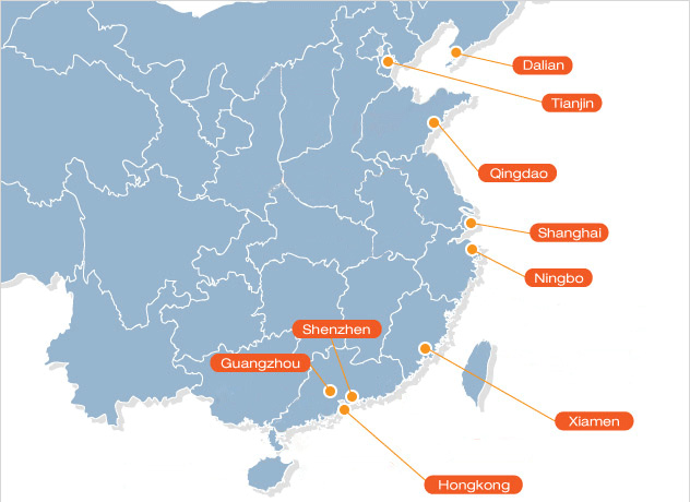 major ports in China