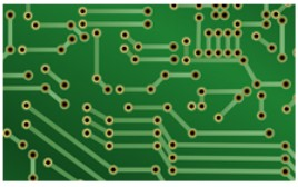 The single-sided printed circuit board