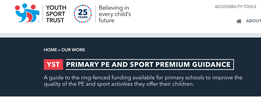 YST PE and Sport Premium Webpage Updated