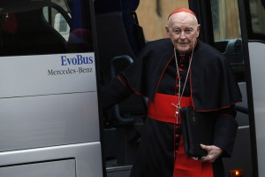 Cardinal McCarrick immediately before the conclave that elected Pope Francis in 2013. (CNS/Reuters)
