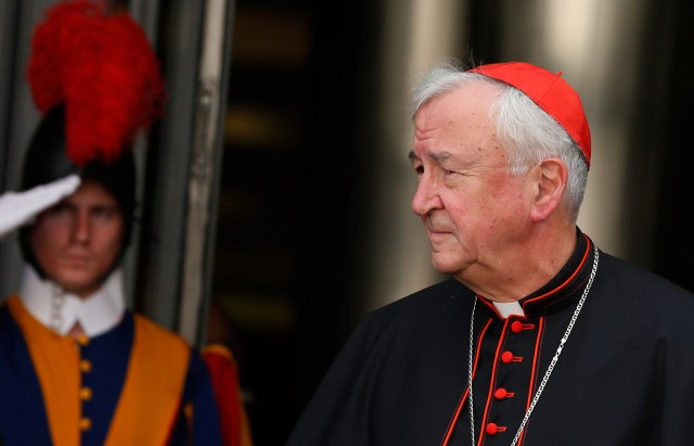 Cardinal Nichols at last October's extraordinary Synod of Bishops on the family. (CNS/Paul Haring)