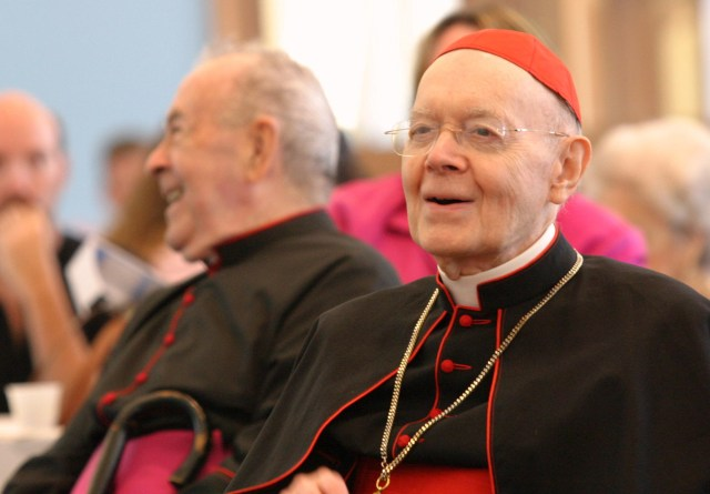 U.S. Cardinal William W. Baum, who died July 23 at age 88 after a long illness, is pictured in 2005. (CNS/Gregory A. Shemitz, Long Island Catholic)