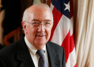 Ken Hackett, U.S. ambassador to the Holy See, is pictured at the U.S. Embassy to the Holy See in Rome. (CNS file/Paul Haring)