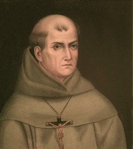 Blessed Junipero Serra is depicted in a copy of an undated oil-on-canvas painting by Franciscan Father Jose Mosqueda. (CNS/courtesy of Santa Barbara Mission Archive-Library)