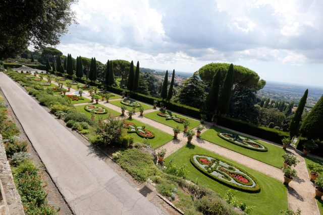 The gardens at the papal villa at Castel Gandolfo, Italy, are pictured Sept. 11. The Vatican Museums and the Italian railway have partnered to offer train tours from the Vatican to Castel Gandolfo. (CNS/Giampiero Sposito)
