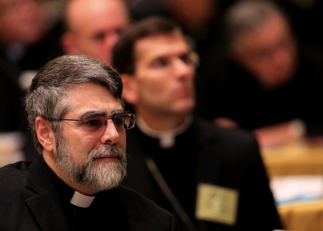 U.S. Chaldean Bishop Frank Kalabat, pictured in a November 2014 photo, testified at a Congressional hearing on Islamic State. (CNS photo/Bob Roller)
