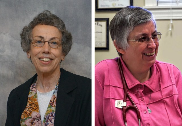 Sister Margaret Held, 68, of the School Sisters of St. Francis in Milwaukee, and Sister Paula Merrill, 68, of the Sisters of Charity of Nazareth in Kentucky, are pictured in undated photos. (CNS/School Sisters of St. Francis and Sisters of Charity of Nazareth)