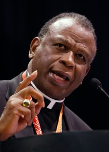 Bishop Edward K. Braxton of Belleville, Ill., is pictured in a 2008 photo. (CNS photo/Nancy Wiechec)