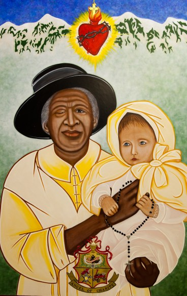 This image of Julia Greeley, a former slave who lived in Colorado, was commissioned by the Archdiocese of Denver by iconographer Vivian Imbruglia. During their fall general assembly, the U.S. bishops approved Greeley's sainthood cause moving forward. (CNS/Vivian Imbruglia, courtesy Archdiocese of Denver)