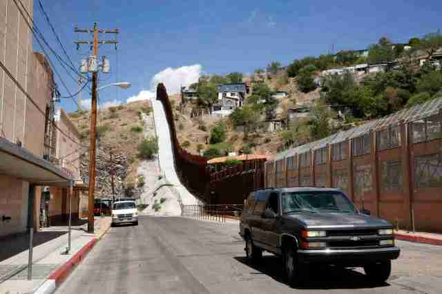 A steel border fence separates Nogales, Ariz., from its sister city in the Mexican state of Sonora. (CNS file /Nancy Wiechec)