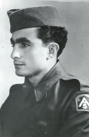 Sgt. Louis DeSimone, assigned as an Italian translator with the U.S. Fifth Army in World War II during the campaign in Italy in 1943-44, would later be ordained a priest and auxiliary bishop for the Archdiocese of Philadelphia. (CNS/Archdiocese of Philadelphia)