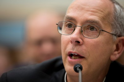 Bishop Mark J. Seitz of El Paso, Texas, addresses the House Judiciary Committee in Washington at a 2014 hearing about unaccompanied and undocumented minors entering the U.S. from Honduras, El Salvador and Guatemala. (CNS/Tyler Orsburn)