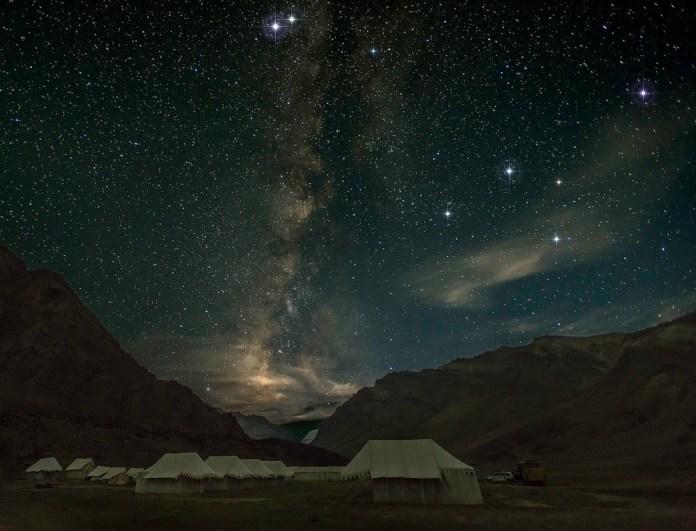 sky at night in ladakh