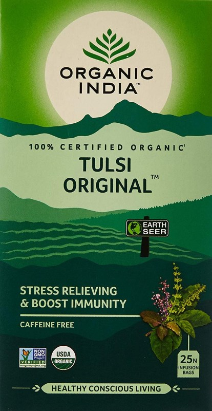 Herbal Tea Brand Organic India Tulsi Tea