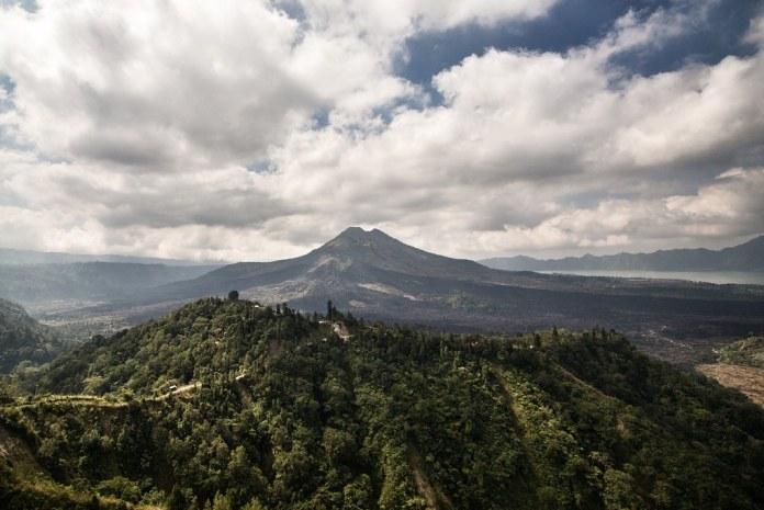 Mountain tops at Bali