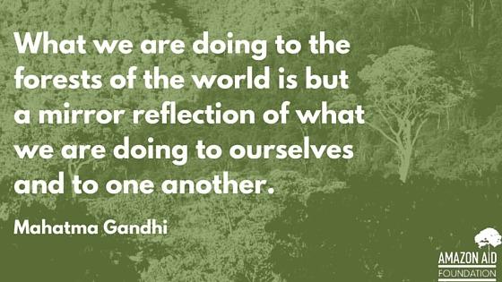 quote of mahatma gandhi by amazon aid foundtion