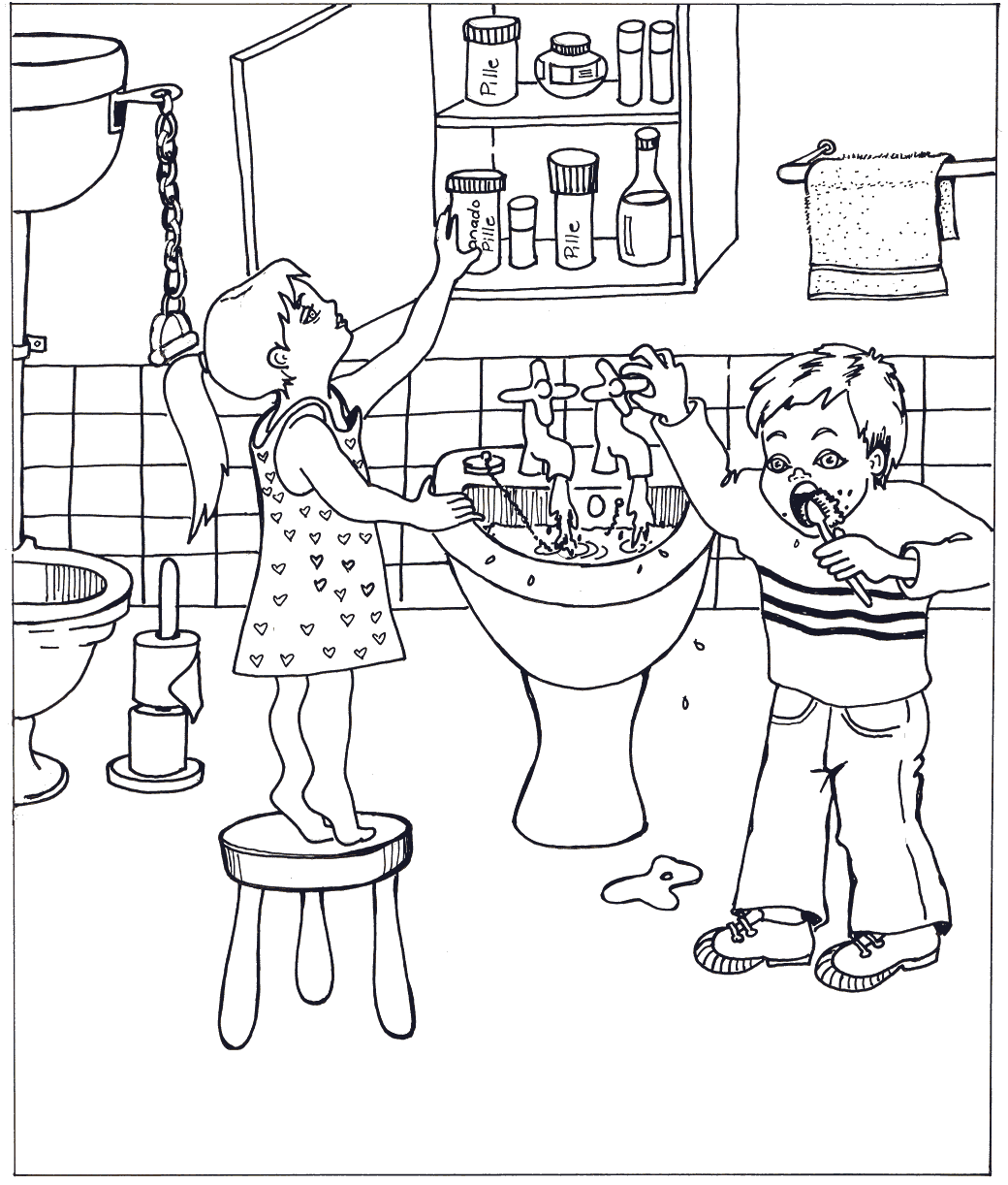 Bathroom Safety Hazards Worksheet