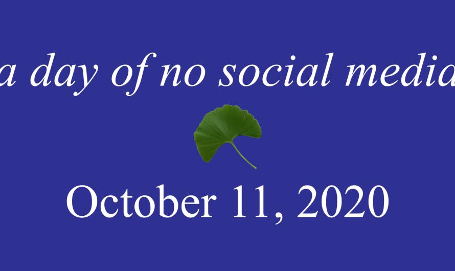 Octubre 11, un día sin redes sociales