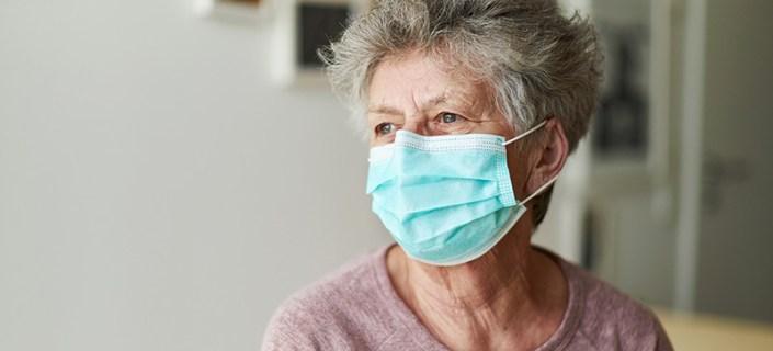 Senior Wearing Mask