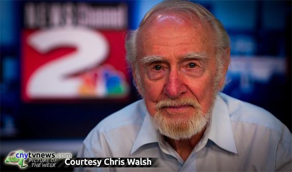 Robert Earle POTW 7/6/12 - Present-day photo on WKTV news set