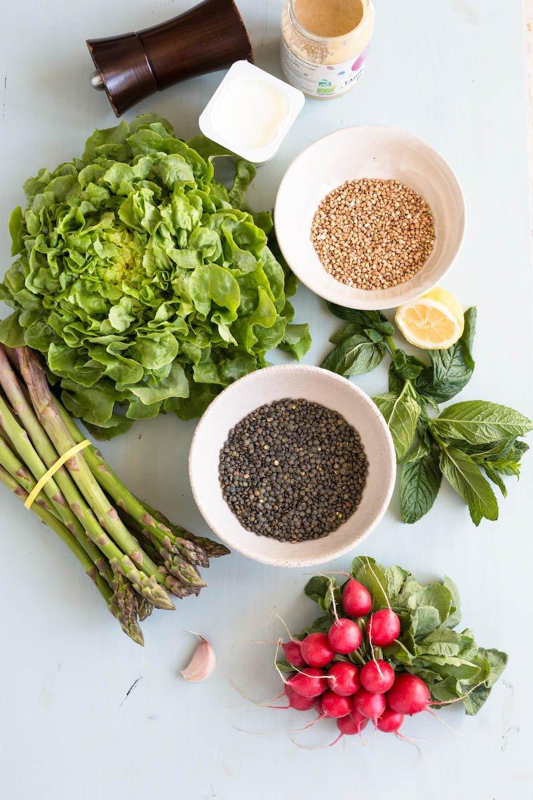 Otium Salad ingredients