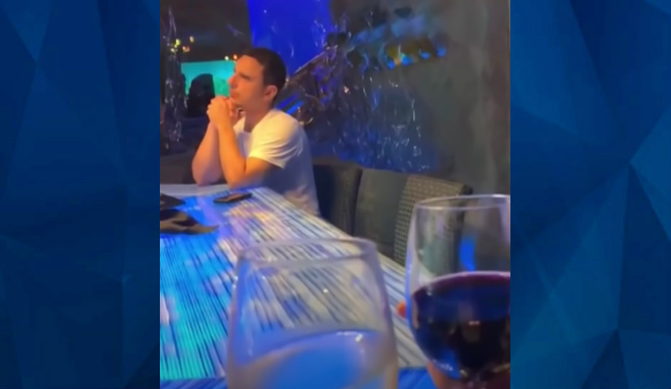 Bizarre cell phone video emerges: Vacation-couple toasts wine moments before deadly shooting at Houston aquarium restaurant, killer sits feet away